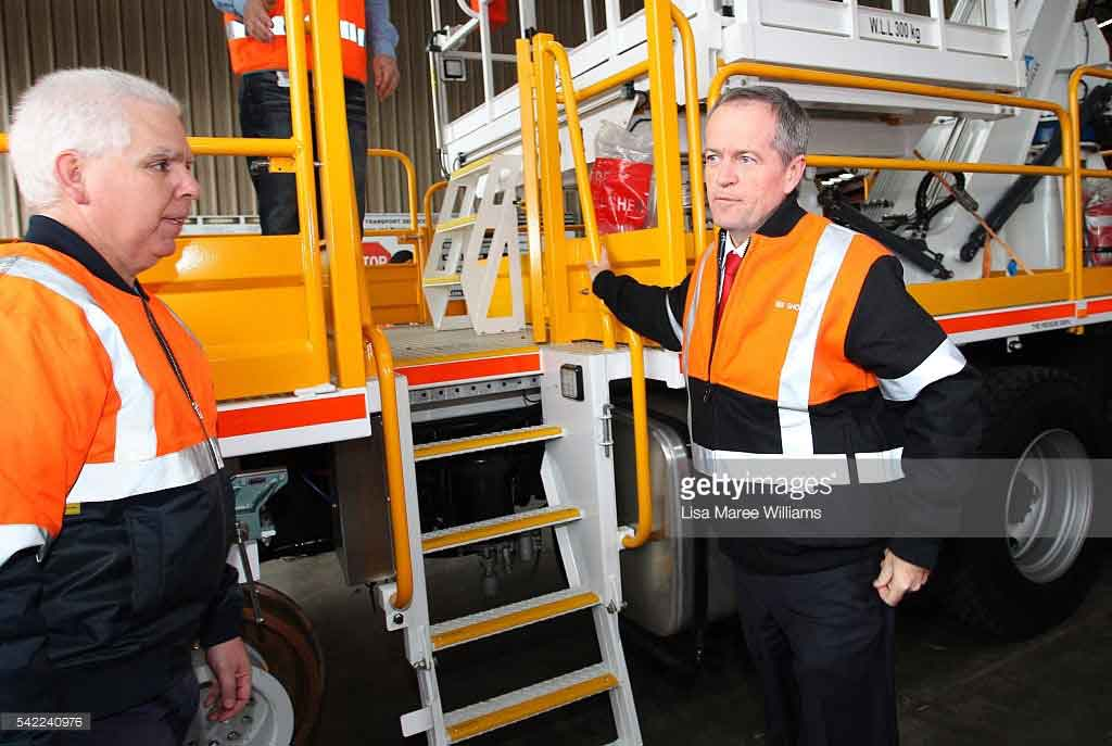 Bill Shorten on HMA Group Hi Rail EWP
